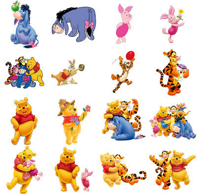 Winnie the Pooh characters, iron on T shirt transfer. Choose image and size