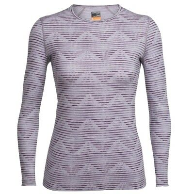 Icebreaker Oasis LS Crewe Diamond Line women silk heather/eggplant Longsleeve