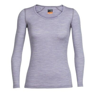 Icebreaker Oasis LS Scoop women silk heather Damen Funktionsunterhemd flieder