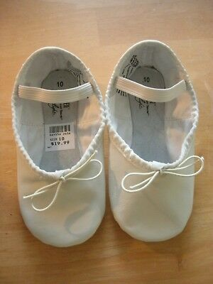 Brand New Toddler Girls White Abt American Ballet Theater Ballet Shoes Size 10