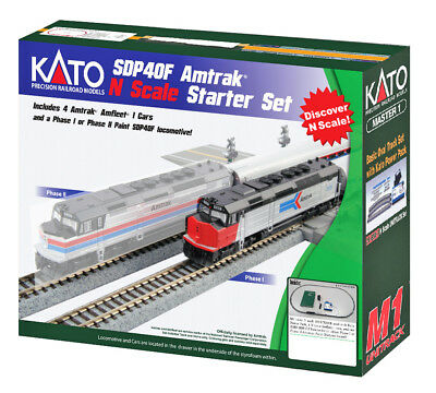 Kato N Scale Amtrak SDP40F Passenger Starter Set Phase I Track & Power 106-0043