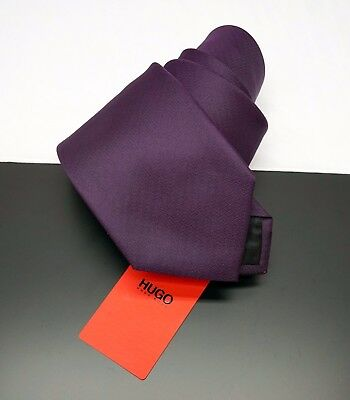 NWT $95 Hugo Boss Mens Tie Necktie Made in Italy Red Check 7 cm NEW