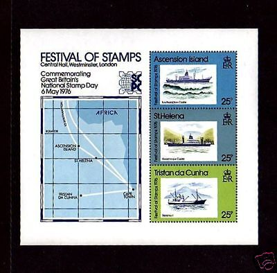 Tristan Da Cunha - 1976 - Ships - Stamp Day - Festival Of Stamps - Mint S/sheet!