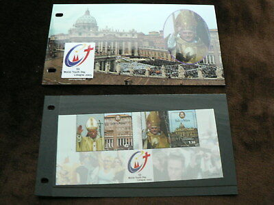 2005 Isle of Man Presentation Pack, World Youth Day m/s, Pope, MNH, Mint