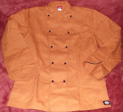 NWOT! DICKIES Burnt Orange Long Sleeve Chef's Coat~~Size 40