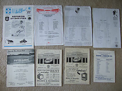 auxerre v psg 20/1/91 + 2 different tickets and press team sheet