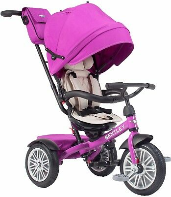 Bentley Trike 6-in-1 Reversible Seat Convertible Tricycle Stroller Fuchsia Pink