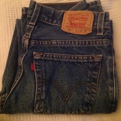 Levis Genuine Relaxed Fit 550 Zip Fly 14 Slim W25xL27 Made in Mexico