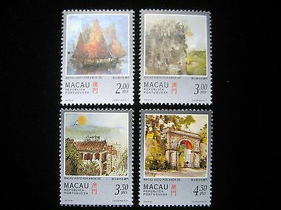 Macau - Complete set of 4 stamps - Painting of Macau by Kwok Se