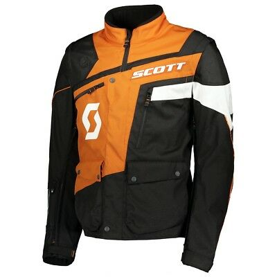 Giacca Jacket Enduro Cross Scott 350 Adv Adventure Nero Arancio Orange Tg Xl