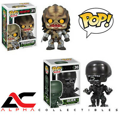 "Funko Pop Movies Set #30 & #31 Alien Vs Predator ""alien & Predator"" Vinyl Figure"