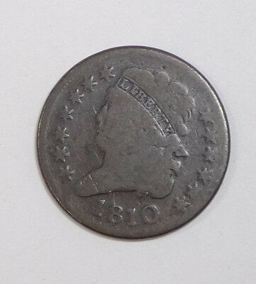 BARGAIN 1810 Classic Head Half Cent GOOD 1/2c ~ Damaged Reverse