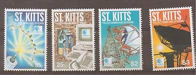 St.kitts Sg440/3 1996 Telecommunications Mnh