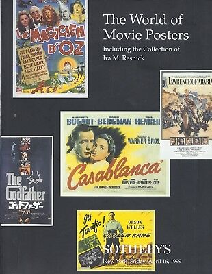 SOTHEBY'S The World of Movie Posters Resnick Collection Auction Catalog 1999
