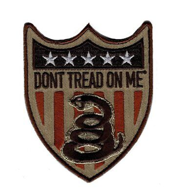 Gadsden Don't Tread On Me Usa Snake Shield Flag Us Patch (P386-IRON ON)