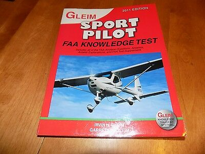 GLEIM SPORT PILOT FAA Knowledge Test 2011 Edition Flying Aircraft Airplanes Book