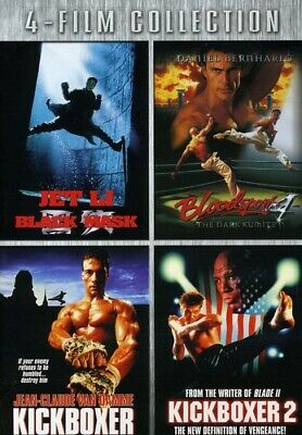 Black Mask / Bloodsport 4 / Kickboxer / Kickboxer 2 [New DVD]