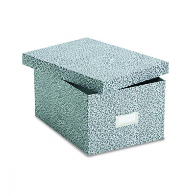 """Oxford Reinforced Board 5"""" x 8"""" Index Card Storage Box with Lift-Off Cover"""