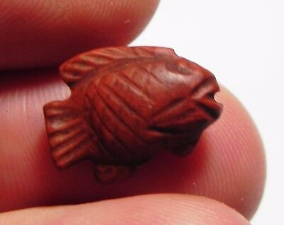 Zurqieh-Asw147- Ancient Egypt, 18Th Dynasty, Red Jasper Fish. 1400 B.c