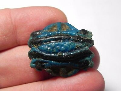 Zurqieh - Asw12- Ancient Large Faience Eye Of Horus Amulet, 1075 - 600 B.c