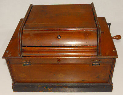 SERAPHONE - HAND ORGANETTE - ENGLISH AUTOMATIC C1890'S Wood Case *Antique!