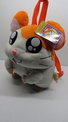 "Original little hamsters big adventures HAMTARO 12"" BACKPACK plush toy with Tags"