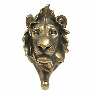 Egift Lion Head Single Wall Hook Hanger Animal Shape Bronze Finish Figure
