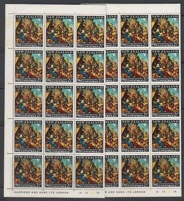 NEW ZEALAND 1961 CHRISTMAS FULL SHEET OF 60 (x2) (ID:R48625)