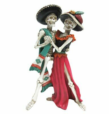 Egift Day of the Dead Skeleton Couple Dancing Figurine 12 Inch Tall Skull Statue