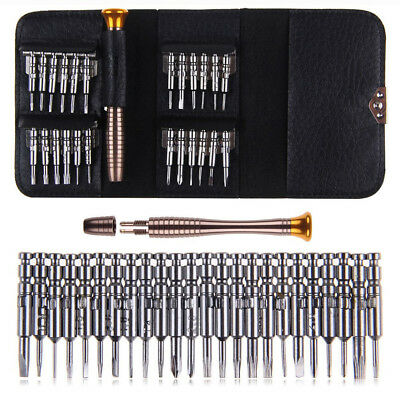 25Pc Electronic Screwdriver Set Tool Set Kit & Case Precision mechanic Torx Mini