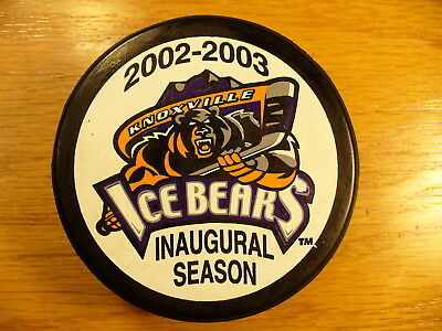 ACHL Knoxville Ice Bears Defunct Team Logo Official Hockey Puck Collect Pucks