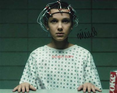 """Eleven Millie Bobby Brown Stranger Things Reprint SIGNED 8x10"""" Photo #1 Netflix"""