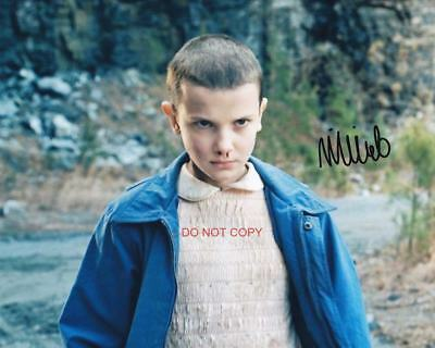 """Stranger Things Eleven Millie Bobby Brown Reprint SIGNED 8x10"""" Photo #2 Netflix"""