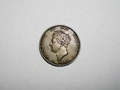 1826 Great Britain Shilling Silver Coin