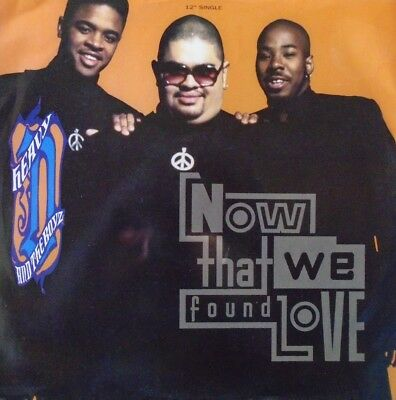 """HEAVY D & THE BOYZ - Now That We Found Love ~ 12"""" Single PS"""