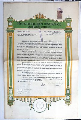 India – a collection of Insurance Policies x 21 different