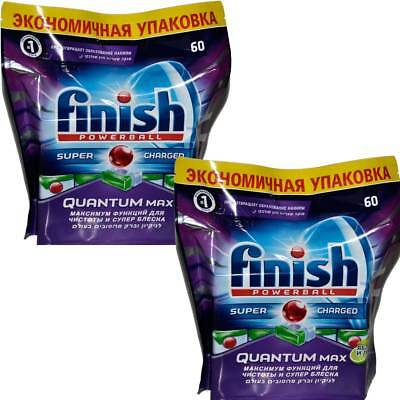 2x Quantum Max Finish Powerball - Apple - Spülmaschinentabs -120 Tabs ( RUS )