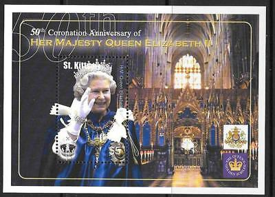 St.kitts Sgms735 2003 Coronation Mnh