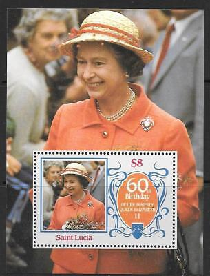 ST.LUCIA SGMS880 1986 60th BIRTHDAY OF QUEEN ELIZABETH MNH