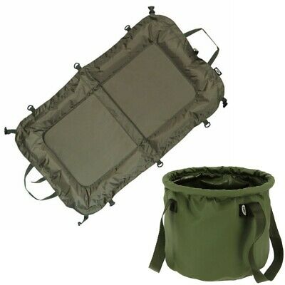 Carp Fishing Beanie Unhooking Mat NGT Padded and Stiff Sided Collapsible Bucket