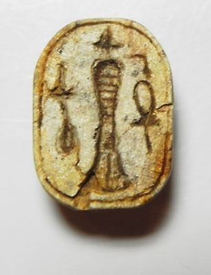 ZURQIEH -ASW92- Ancient Egyptian Steatite Scarab , New KIngdom.