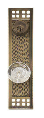 BRASS Accents Arts and Crafts Single Cylinder Entrance Knobset Satin Nickel