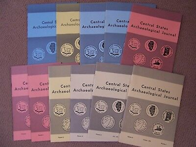 11 Early Journal Publications Of The Central States Archaeological Society