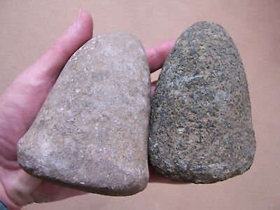 Two Authentic Stone Pestles From Momence, Illinois Collection