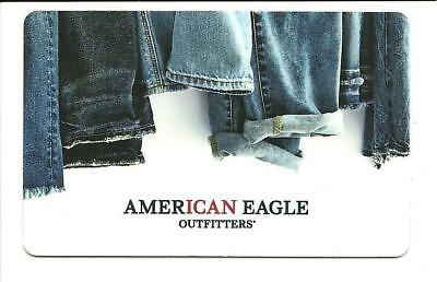American Eagle Outfitters Denim Jeans Gift Card No $ Value Collectible AE