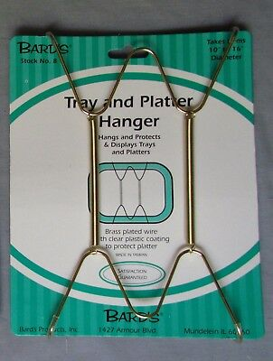 """Tray and Platter Hanger, Plate Hanging Wire, Displays Plates 10""""-16"""" in diameter"""