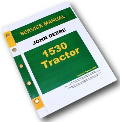 1530 JOHN DEERE Technical Service Shop Repair Manual ... John Deere Wiring Diagram on john deere 1530 lights, john deere 1530 parts, john deere 1530 steering, new holland 1530 wiring diagram,