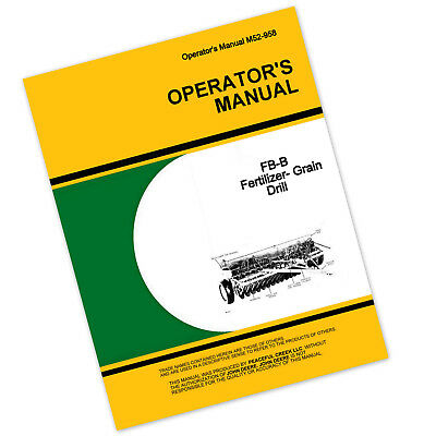 operators manual for john deere fb177b fb168b fertilizer grain drill rh picclick com Antique Grain Drill Old Grain Drill Parts