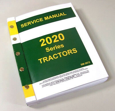 service manual for john deere 2020 tractor technical repair workshop rh picclick com john deere 2040 repair manual pdf John Deere 140 Electrical Diagram