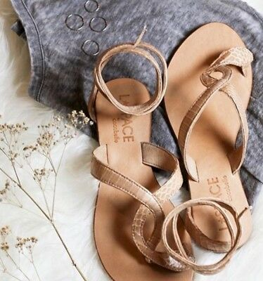 e614cfc63 NEW L SPACE BY Cocobelle Snake Wrap Flats Sandals Size 6 -  44.99 ...